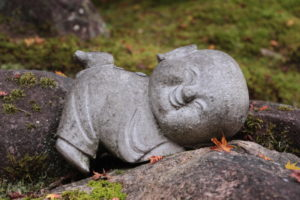 Happy Buddha in Miyajima island
